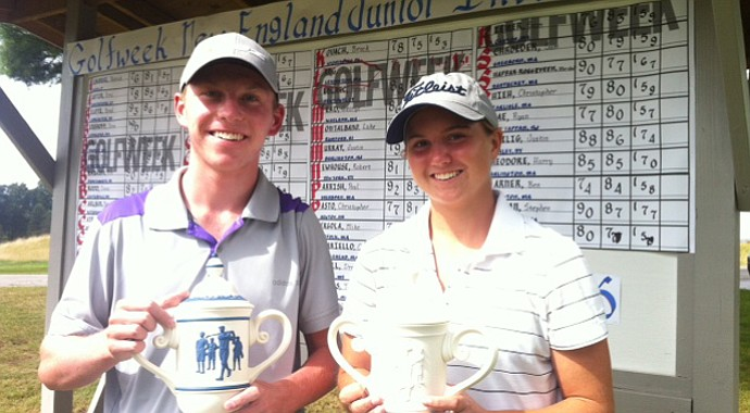 Jackson Lang and Katie Barrand won the Golfweek New England Junior Invitational.