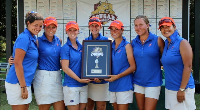 Florida's women after winning their season opener, the Cougar Classic.