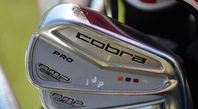 Ian Poulter uses Cobra AMP Cell Pro irons.