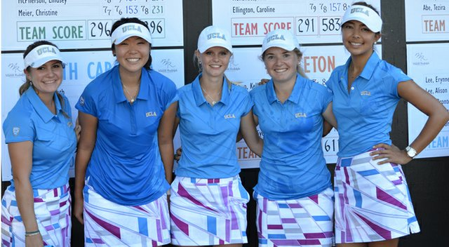 UCLA won the Mason Rudolph by 20 shots. From left, Ani Gulugian, Erynne Lee, Louise Ridderstrom, Bronte Law and Alison Lee.