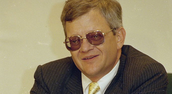 Author Tom Clancy died at 66 in Baltimore.