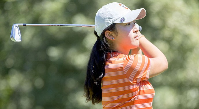 Julie Yang stepped away from her Oklahoma State teammates for the week to play in the second stage of LPGA Q-School.