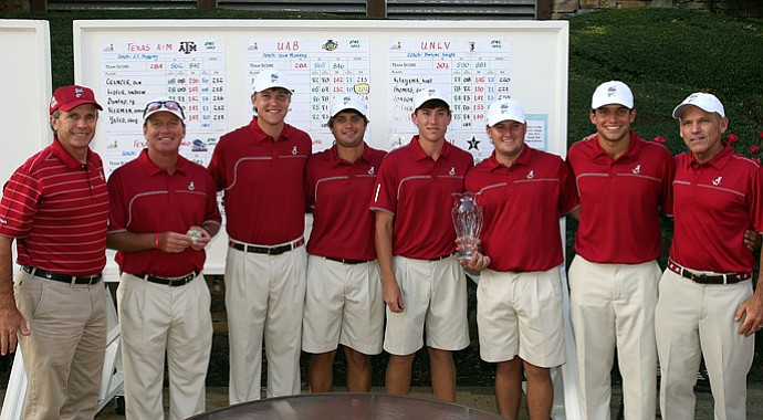 Alabama after winning the Jerry Pate Intercollegiate.
