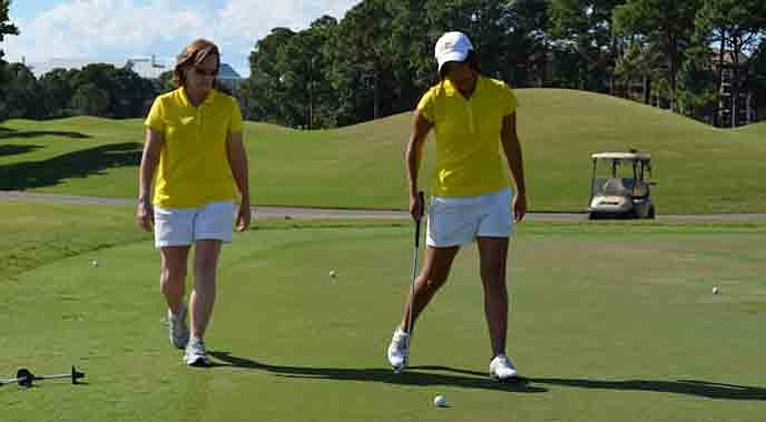 Birmingham Southern head coach Betty Palmer during the Golfweek Division III Invitational.