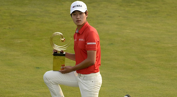 Chang-woo Lee won the Asia-Pacific Amateur.