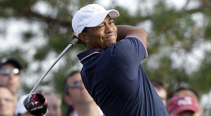 Tiger Woods during the Presidents Cup
