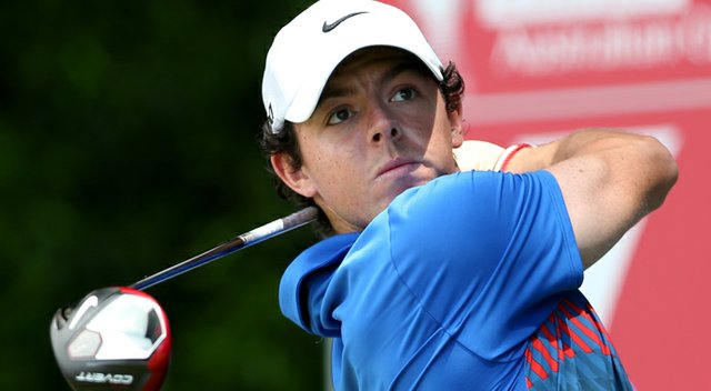 Rory McIlroy birdied the 18th hole to beat Adam Scott at the Australian Open on Sunday, winning for the first time in 2013 and denying Scott the rare Australian triple crown.
