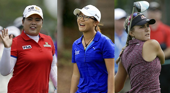 From left: Inbee Park (Associated Press); Lydia Ko (Tracy Wilcox/Golfweek); Lexi Thompson (Associated Press).