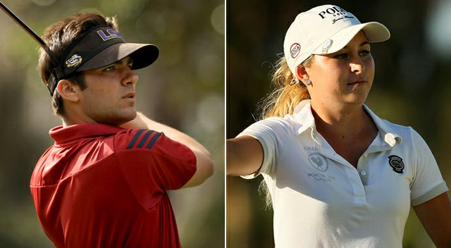 Curtis Thompson (left) and Shannon Aubert won their respective Dixie Amateur titles.