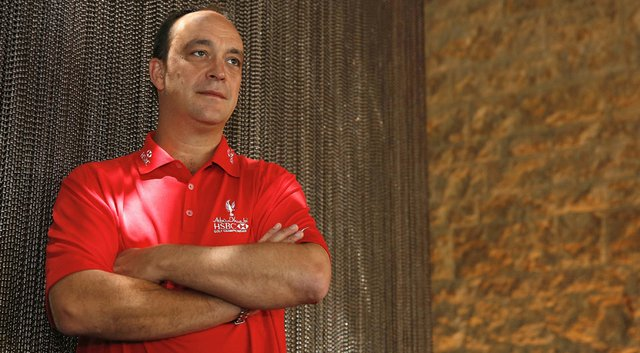 Giles Morgan, global head of sponsorship and events for HSBC, poses for a portrait at the Abu Dhabi HSBC Golf Championship.