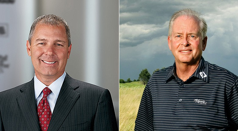 TaylorMade CEO Mark King (left) and PGA of America president Ted Bishop were two major voices behind the Hack Golf initiative Tuesday night.