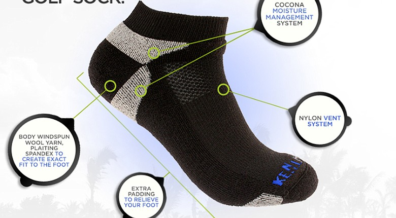 "The ""World's Best Golf Sock,"" according to Kentwool. Here's how the sock helps your foot throughout the round."