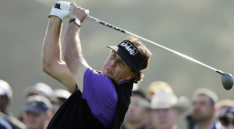 Phil Mickelson isn't sure if he can play the Waste Management Phoenix Open on PGA Tour after back pain he played through last week (shown here at Torrey Pines).