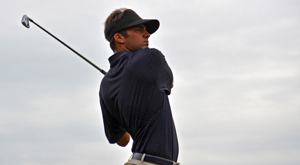 College stars Greg Eason (UCF), Michael Johnson (Auburn) and Curtis Thompson (LSU) all fired 2-under 70s to take the 18-hole Jones Cup lead at the Ocean Forest Club in Sea Island, Ga.