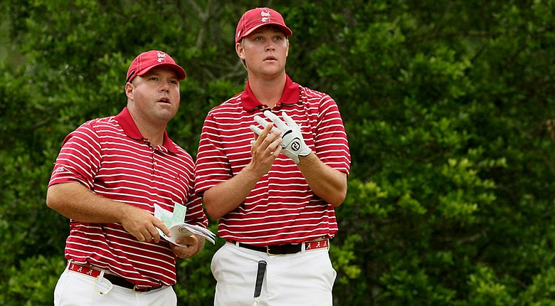 Alabama's Trey Mullinax (right) is atop the spring's second Haskins Award Watch List.