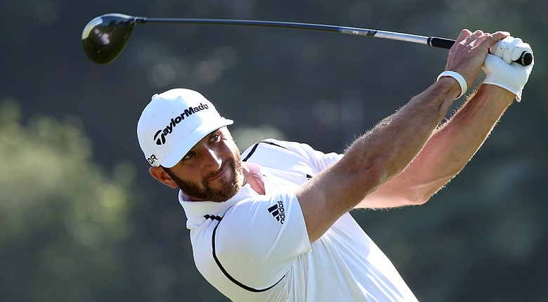 Dustin Johnson during his first-round 66 at the PGA Tour's 2014 Northern Trust Open.