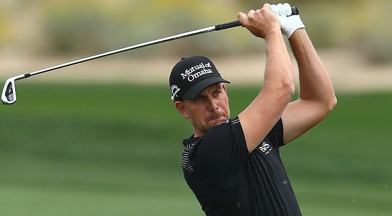 Henrik Stenson during his first-round win at the 2014 WGC-Accenture Match Play at Dove Mountain in Marana, Ariz.