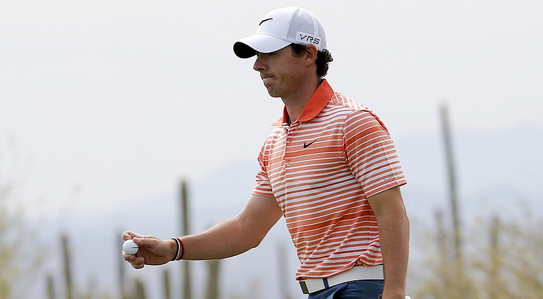 Rory McIlroy during his first-round win at the 2014 WGC-Accenture Match Play at Dove Mountain in Marana, Ariz.