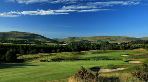 The 16th hole at Gleneagles, the site of the 2014 Ryder Cup.