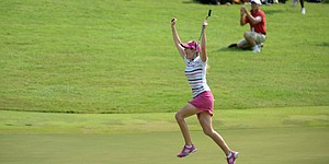 Creamer's 75-foot eagle secures first win since '10