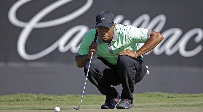 Tiger Woods at Trump National Doral (Fla.) during the 2014 WGC-Cadillac Championship.