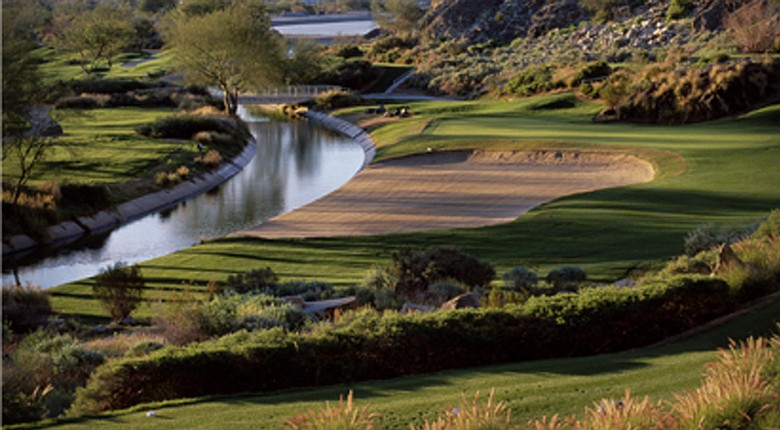 The No. 1 hole at PGA West at La Quinta in Palm Springs.