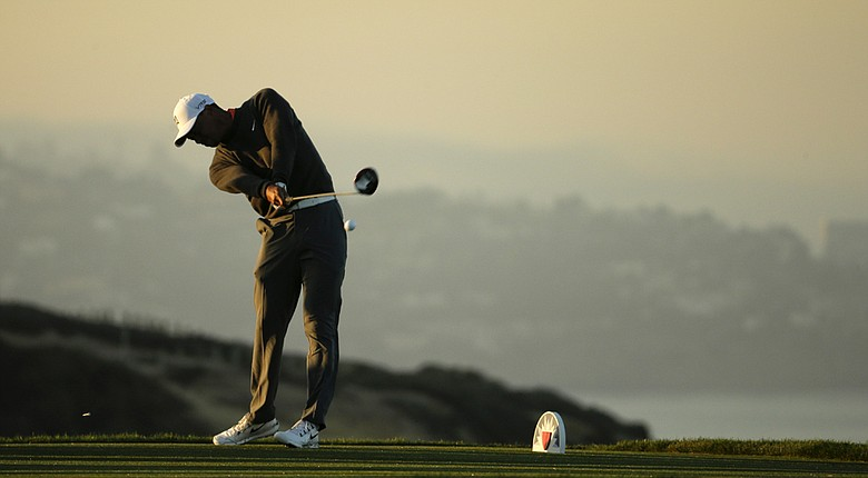 Tiger Woods plays at Torrey Pines, site of his most recent win in a major at the U.S. Open in 2008 (shown here during the 2014 Farmers Insurance Open).