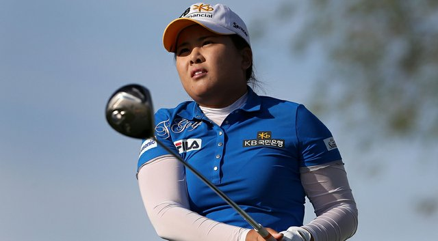 Inbee Park shot a 6-under 66 behind four birdies over her final five holes on Thursday at the JTBC Founders Cup.