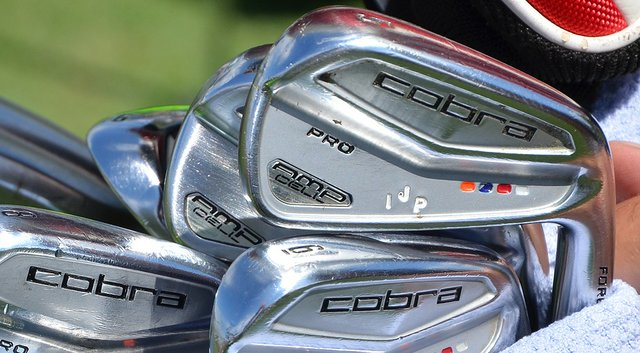 Ian Poulter has a colorful set of Cobra AMP Cell Pro irons in his bag.