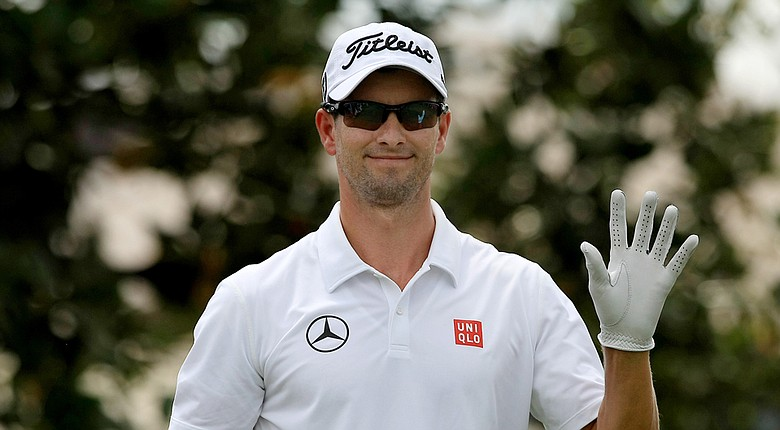 Adam Scott during Saturday's third round of the PGA Tour's 2014 Arnold Palmer Invitational at Bay Hill Club and Lodge in Orlando, Fla.