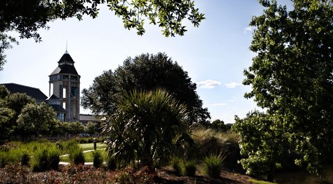A general view of the World Golf Hall of Fame at the World Golf Village in St Augustine, Florida.
