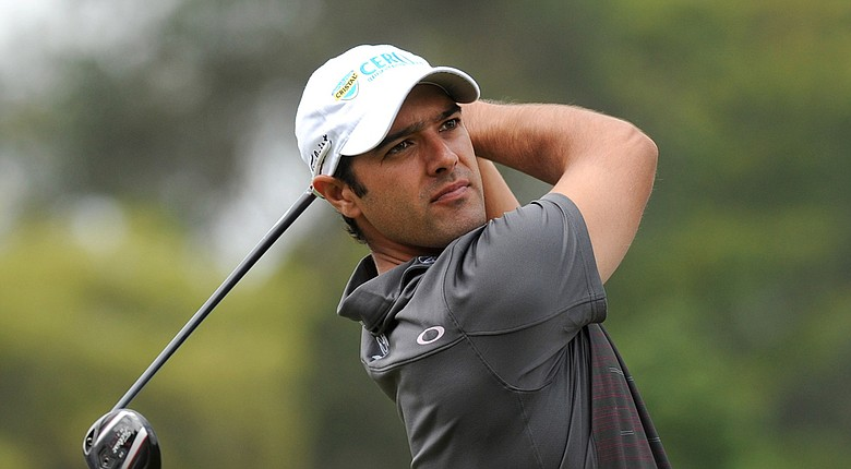 Benjamin Alvarado received a sponsor's exemption into the PGA Tour's 2014 Valero Texas Open in San Antonio, Texas (shown here during last month's Colombia Championship on the Web.com Tour).