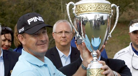 Jeff Maggert won his Champions Tour debut at the 2014 Mississippi Gulf Resort Classic.