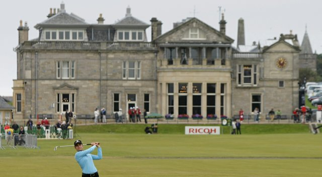 At the Royal & Ancient Golf Club in St. Andrews, Scotland, Lorena Ochoa plays the Old Course during her 2007 Women's British Open win.