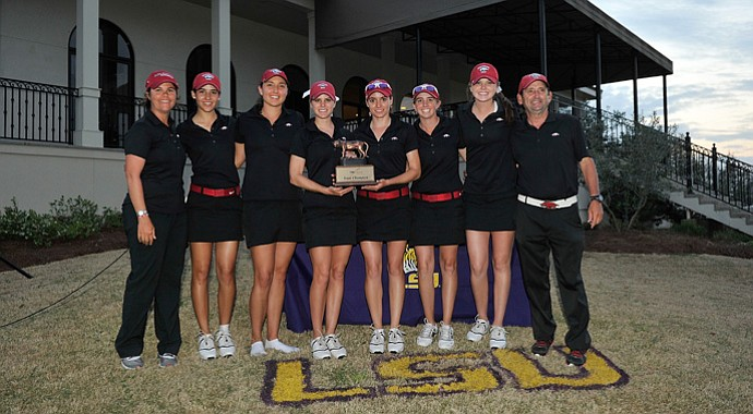 Arkansas won the LSU Classic for its third team title this season.