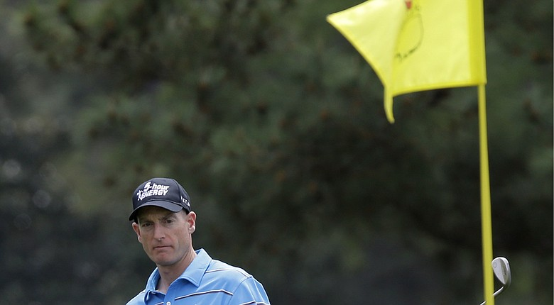 "Jim Furyk says he will rely on ""confidence"" rather than recent statistics going into the 2014 Masters at Augusta National (shown here last year)."