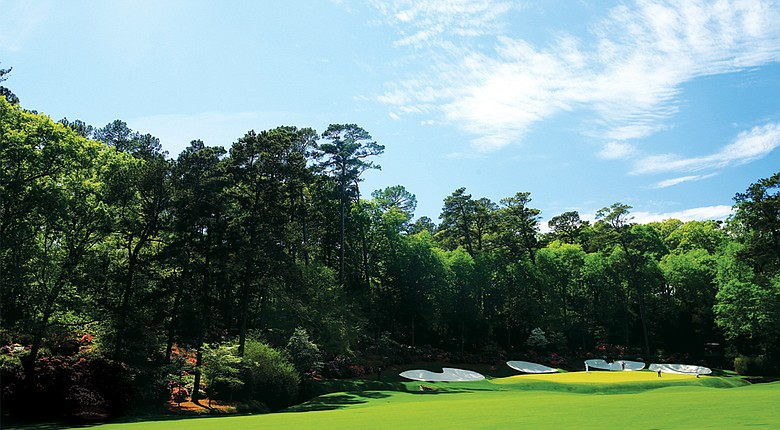 The 12th hole at Augusta National