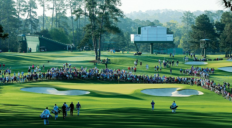 The second hole at Augusta National.
