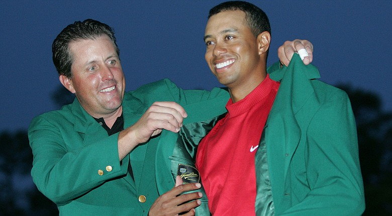 The last time Tiger Woods slipped on a green jacket at Augusta National was when Phil Mickelson slipped it on his back in 2005.