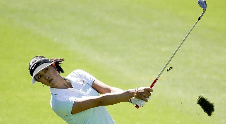 Michelle Wie during Thursday's first round of the LPGA's Kraft Nabisco Championship at Rancho Mirage, Calif.