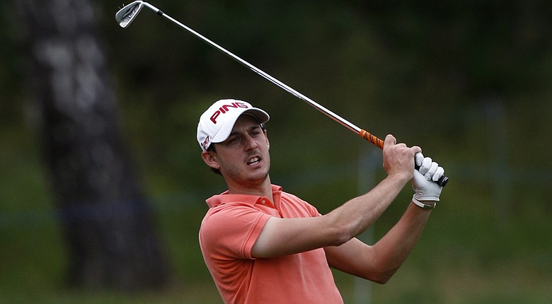 Matthew Nixon leads the European Tour's 2014 NH Collection Open after three rounds (shown here during last year's Russian Open).