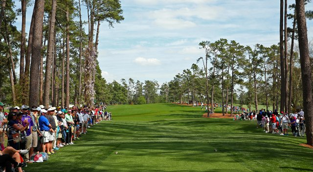 The new-look 17th hole is just one of many visible changes to the tree lines at Augusta National.