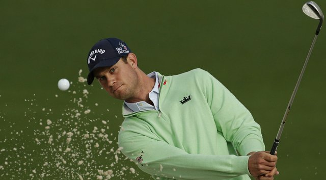 Harris English practices at Augusta National for the 2014 Masters.