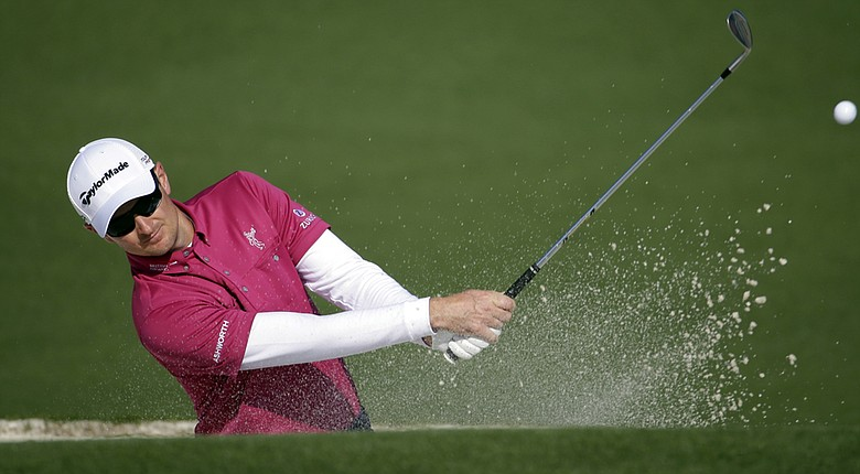 Justin Rose during his preparation for the 2014 Masters at Augusta National.