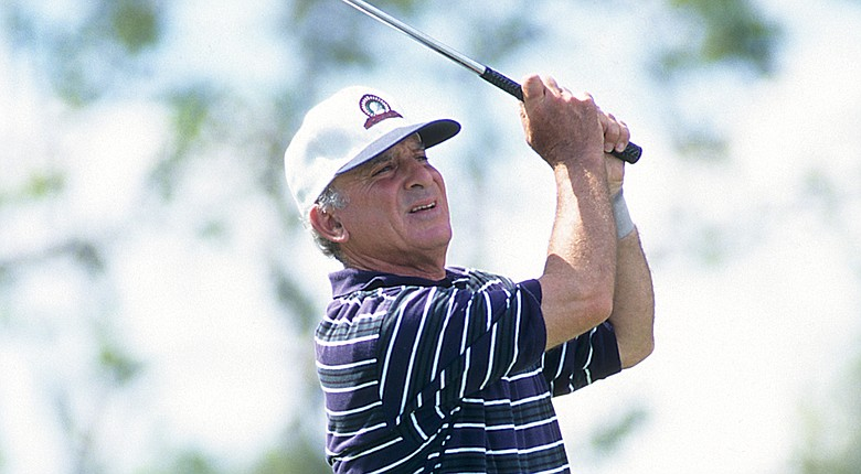 Carl Lohren enjoys an annual trek to Augusta National's eighth tee, where he studies the swings of the world's top players (shown here during the 2007 Senior PGA Championship).