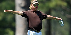 Jimenez, 50, fires tournament-best 66 at Masters