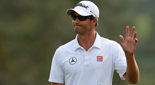 Adam Scott fired an even-par 72 to finish the Masters at 1 over, in a tie for 14th.