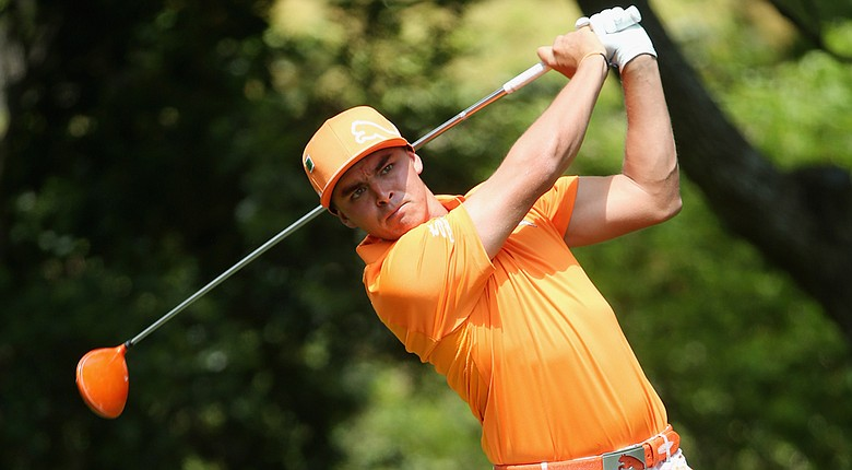 Despite finishing T-5, Rickie Fowler struggled on the par 5s at Augusta National.