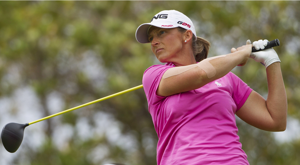 Angela Stanford followed her take-charge 64 with a 67 in Friday's third round to maintain the lead over Michelle Wie and Hyo Joo Kim at the LPGA Lotte Championship in Hawaii.