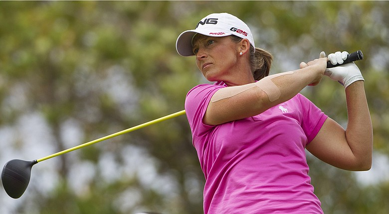 Angela Stanford during Friday's third round of the 2014 LPGA Lotte Championship in Hawaii.
